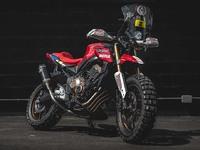 Une Honda CB650R en version Dakar
