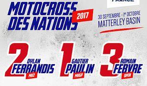 MXDN 2017 : Ferrandis, Paulin et Febvre pour défendre le titre
