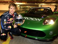 [Vidéo] Sebastian Vettel en Tesla Roadster pour la Race of Champions