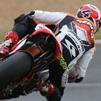 Moto GP - France: Dovizioso a pris un coup sur le casque