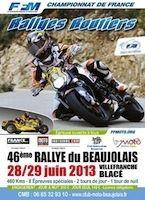 Championnat de France des Rallyes routiers 2013: Derrien s'impose dans le Beaujolais
