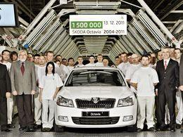 Fabrication de la 1 500 000 ème Skoda Octavia 2
