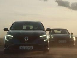 Renault Megane GT : la pub allemande ose la confronter à unePorsche 911