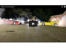 Deux Ferrari F50 s'affrontent ... dans un tir à la corde
