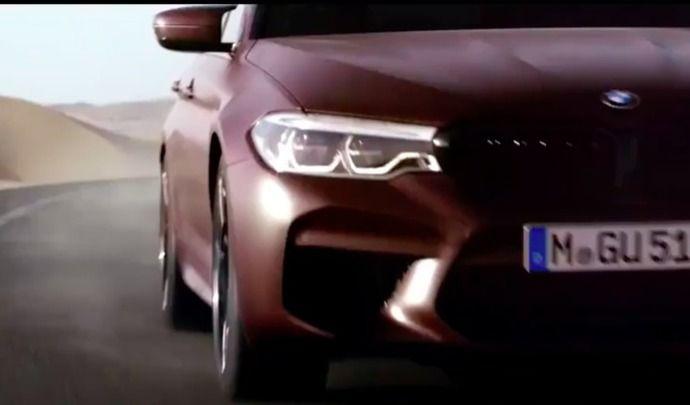 Nouvelle BMW M5: ultime teaser, rendez-vous le 21août