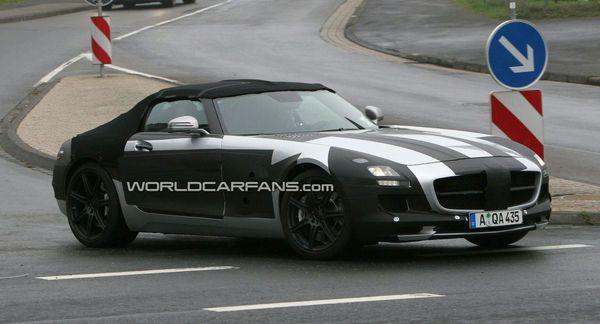 Spyshot : bientôt le tour de la Mercedes SLS AMG Roadster