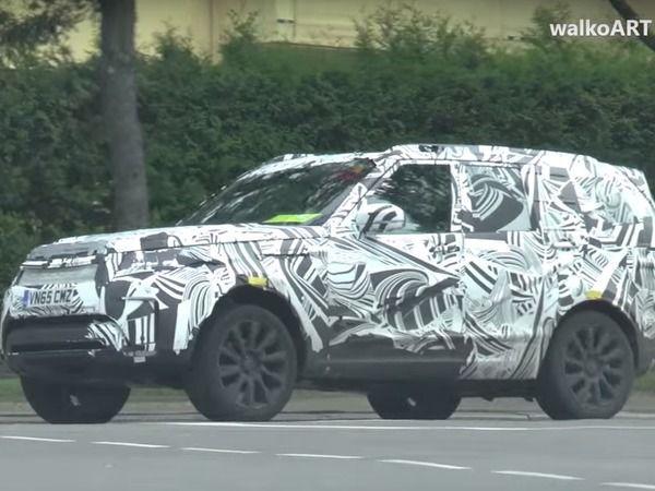 Surprise : le futur Land Rover Discovery en balade