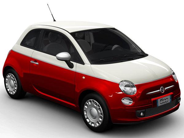Bologne 2010 : Fiat 500 Bicolore, mignionne