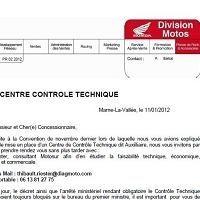 Contrôle Technique: Droit de réponse de Honda France
