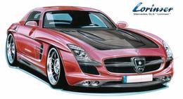 Future Mercedes SLS : Lorinser la rhabille déjà (sur papier)