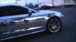 [Vidéo] Encore mieux que l'Audi R8 chromée : le coupé S5 chromé
