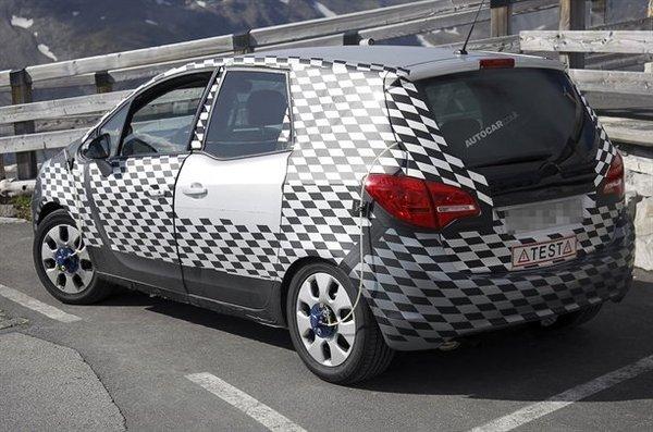 Le futur Opel Meriva ne cache plus ses antagonismes