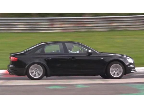Surprise en vidéo : la future Audi A4 à l'assaut du Nürburgring