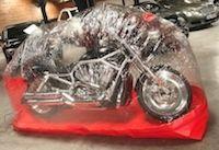 Bike bubble met votre moto... sous une bulle de protection.