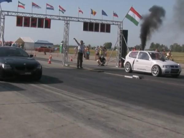 Lorsqu'une Polo TDi colle une rouste à une BMW M6