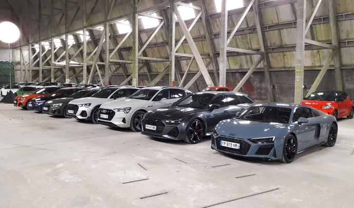 Salon de l'auto Caradisiac. Le stand Audi : variété allemande