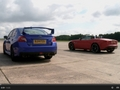 Drag Battle EVO : Jaguar F-type V6 S vs Subaru WRX STI