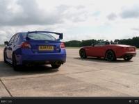 Drag Battle EVO : Jaguar F-type V6 S vs Subaru WRX STI