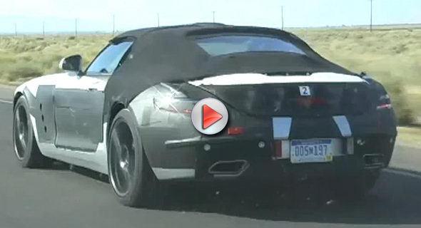 [Vidéo] La future Mercedes SLS AMG Roadster se promène