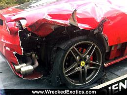 Une crevaison à 190 km/h en Ferrari F430, ça fait mal