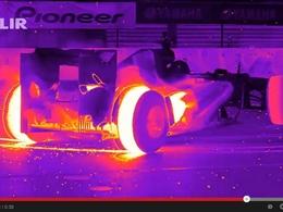 Vidéo - La RB8 Red Bull Racing passe ses donuts aux infrarouges