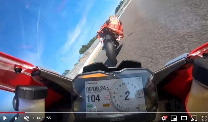 Vidéo - Ducati: une Panigale V4R sur circuit, ça donne ça…