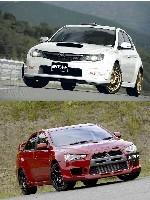 Mitsubishi Evo MR et Subaru Impreza WRX STI Spec C: plus radicales