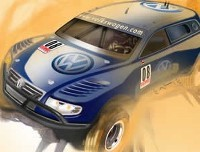 VW Touareg Trophy Truck: monstre à moteur V12!
