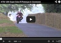 La KTM 1290 SuperDuke R à Goodwood: vidéo