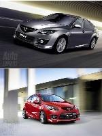 Mazda 2 & 6 MPS en approche