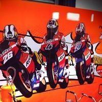 Moto GP - Test Qatar: La nouvelle décoration du stand Honda HRC