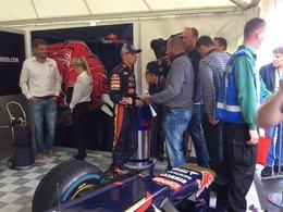 F1 - Max Verstappen tape en démonstration à Rotterdam