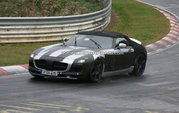 Spyshot : future Mercedes SLS AMG Roadster, la routine sur le Nürburgring