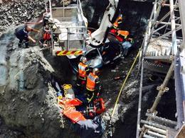 Rennes : un automobiliste plonge dans un trou de 6 mètres de profondeur