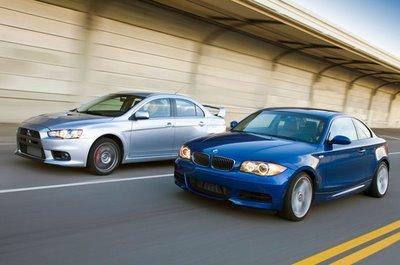 Vidéo : Mitsubishi Lancer Evolution vs BMW 135i : David contre Goliath ?