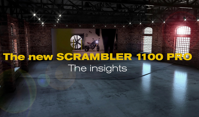 Découvrez le Ducati Scrambler 1100 Pro en réalité augmentée