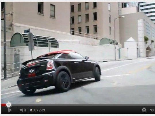 [vidéo pub] La Mini Coupé fait sa promo façon USA