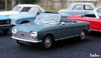Miniature : 1/43ème - PEUGEOT 204 cabriolet