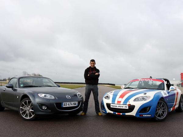 Les essais de Soheil Ayari : Mazda MX5 vs Mazda MX5 Open Race