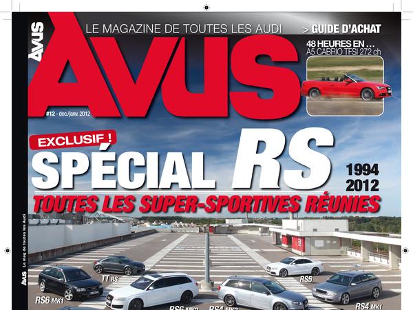 Avus n°12: un dossier spécial Audi RS à ne pas manquer!