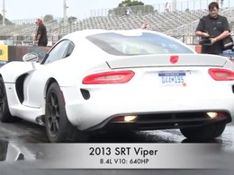 La SRT Viper en action sur les pistes de drag