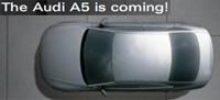 Audi A5: d'abord le site web...