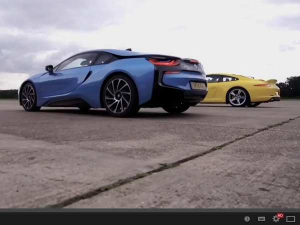 Drag Battle EVO : BMW i8 vs Porsche 911 Carrera S, un match serré
