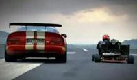 Vidéo. Viper contre Karting
