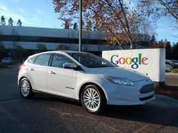 Google reçoit l'un des premiers exemplaires de Ford Focus électrique