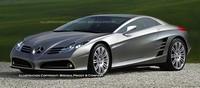 Future Mercedes McLaren 'SLS'... de loin