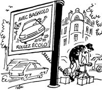 Manifestation : « sous les Vélib', la pub' »