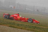 Premiers roulages de la F2007