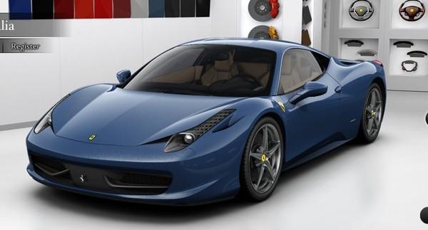 Perdez un peu de temps en configurant votre Ferrari 458 Italia