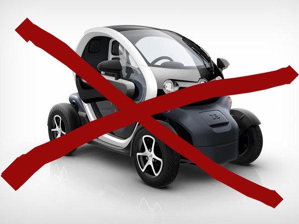 Plus belle voiture de l'année 2011 : le Renault Twizy éliminé (la Mini Coupé aussi) !